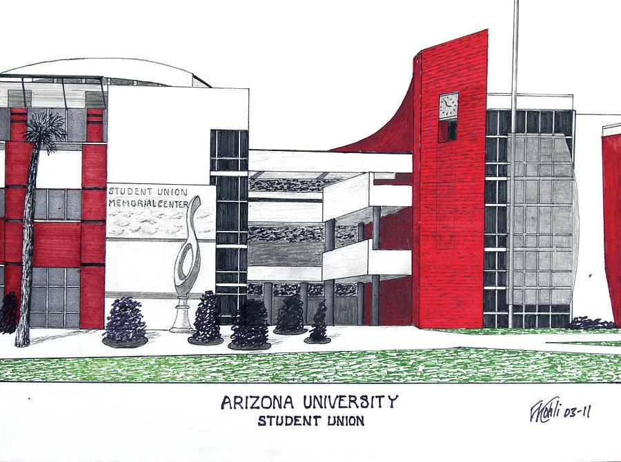 Arizona University Drawing - Arizona University by Frederic Kohli
