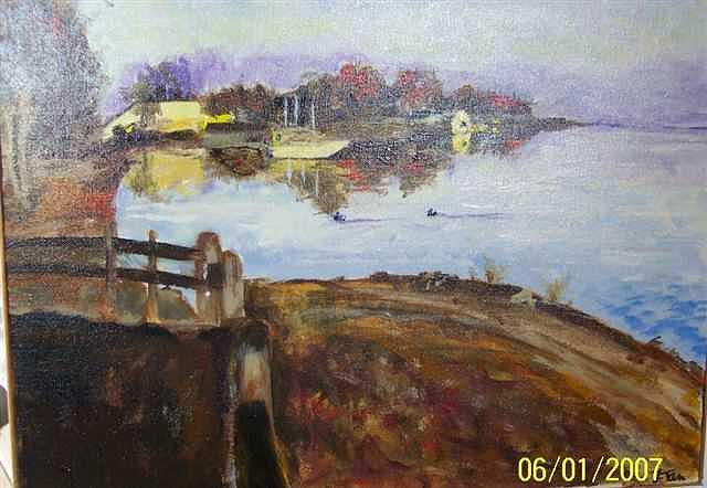 Harbor Painting - Arkansan Harbor by Lori Tan