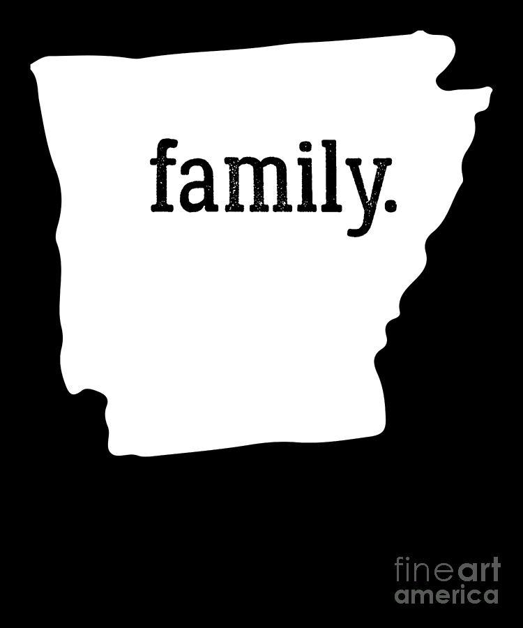 Arkansans Digital Art - Arkansas Cool Gift Family State Shirt Light by J P