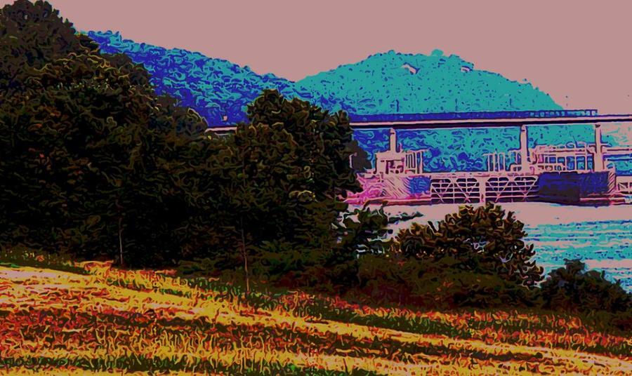 Arkansas Digital Art - Arkansas River Lock by Tom Herrin