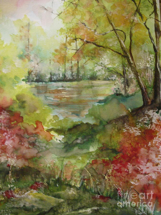 Arkansas Painting - Arkansas Springtime by Robin Miller-Bookhout