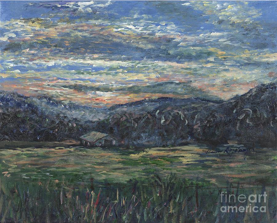 Impressionism Painting - Arkansas Sunrise by Nadine Rippelmeyer