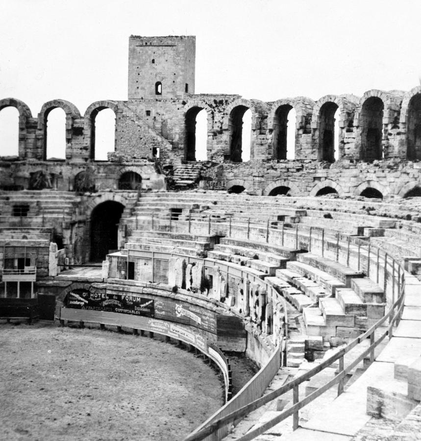 Arles Photograph - Arles Amphitheater A Roman Arena In Arles - France - C 1929 by International  Images