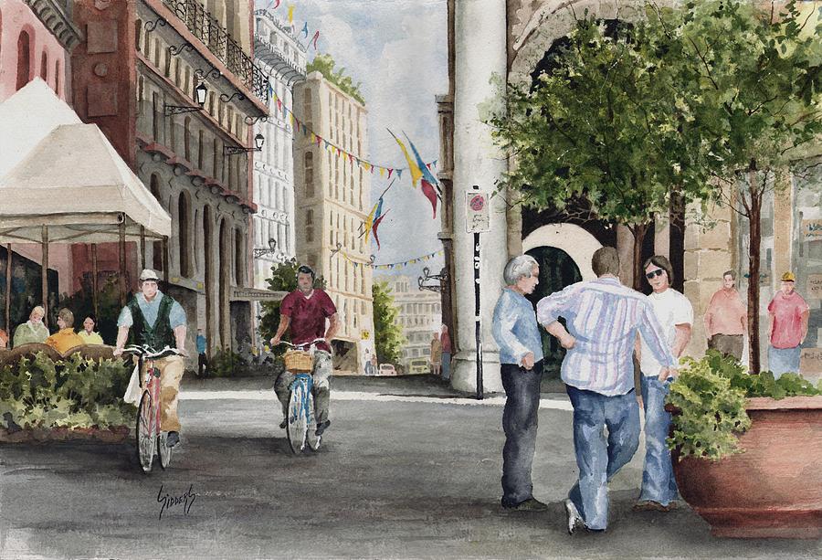 Arles Painting - Arles Street by Sam Sidders