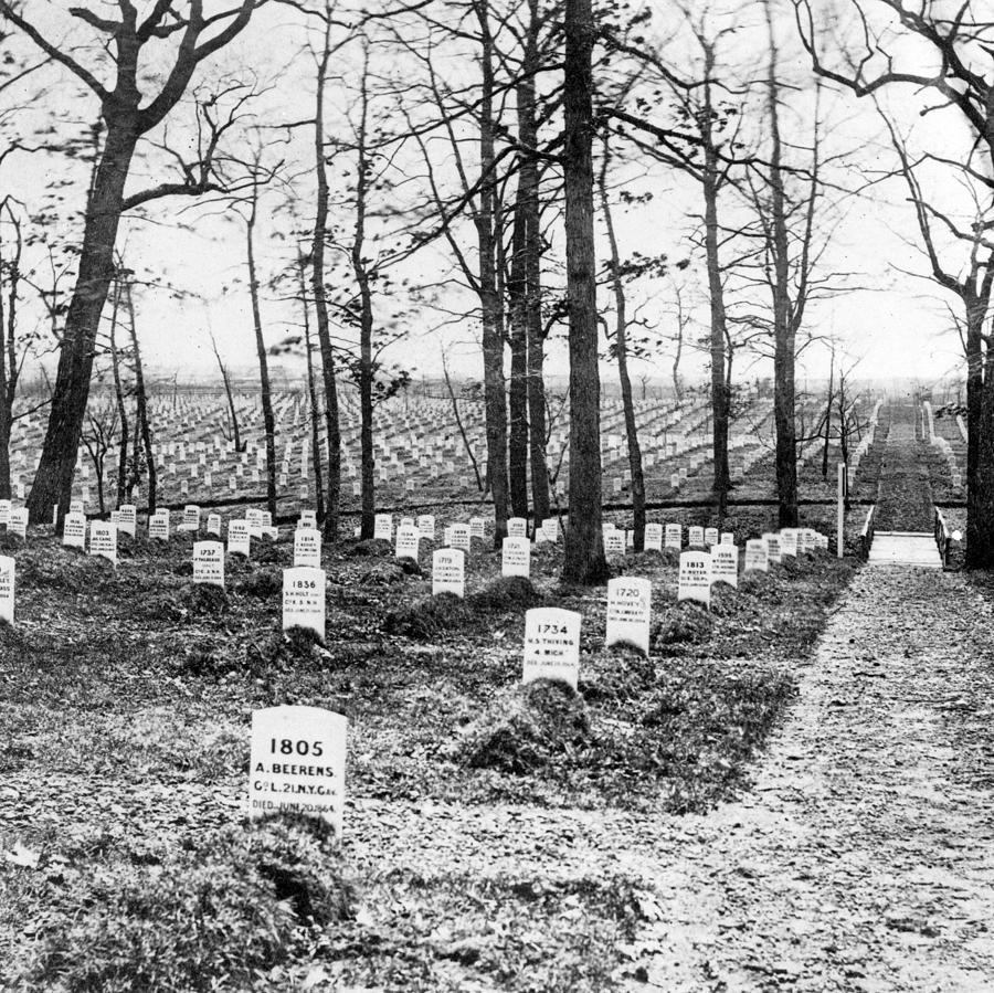 arlington National Cemetery  Photograph - Arlington National Cemetery - C 1867 by International  Images