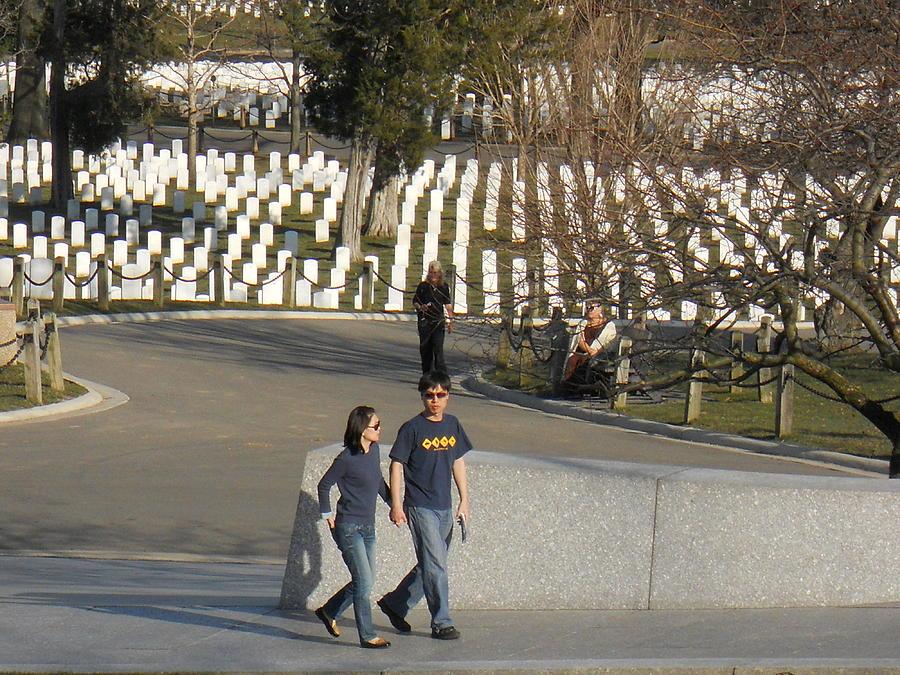 Arlington Photograph - Arlington National Cemetery by Alan Espasandin