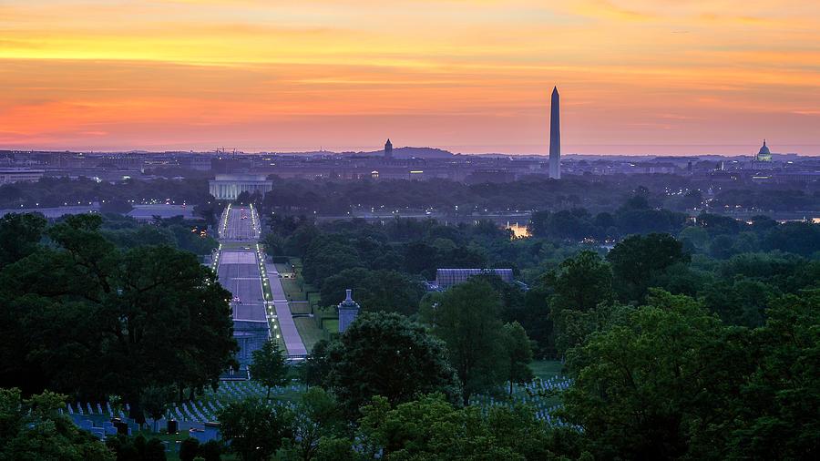 Alexandria Photograph - Arlington Sunrise by Michael Donahue