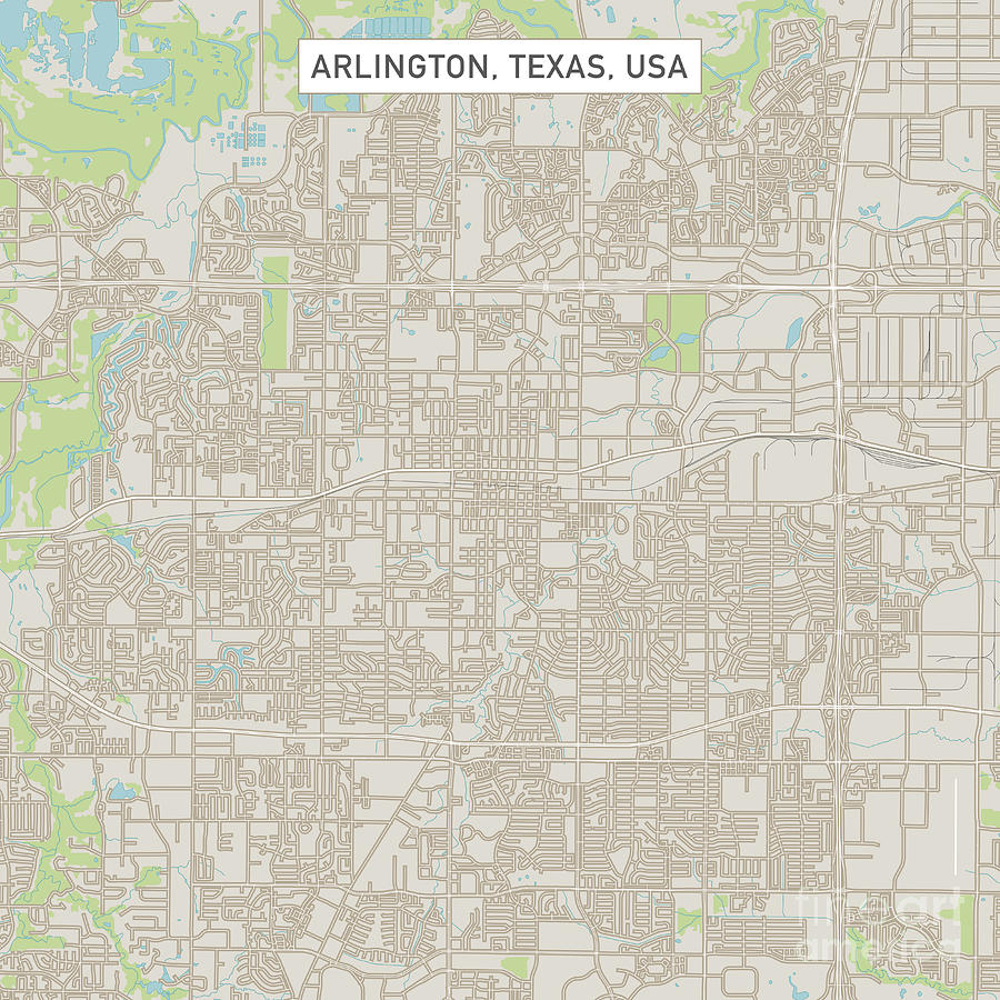 Map Of Arlington Texas.Arlington Texas Us City Street Map Digital Art By Frank Ramspott