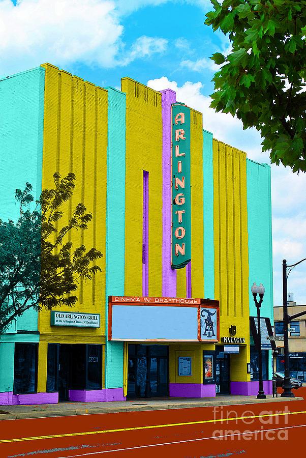 Theatre Painting - Arlington Theatre by Jost Houk