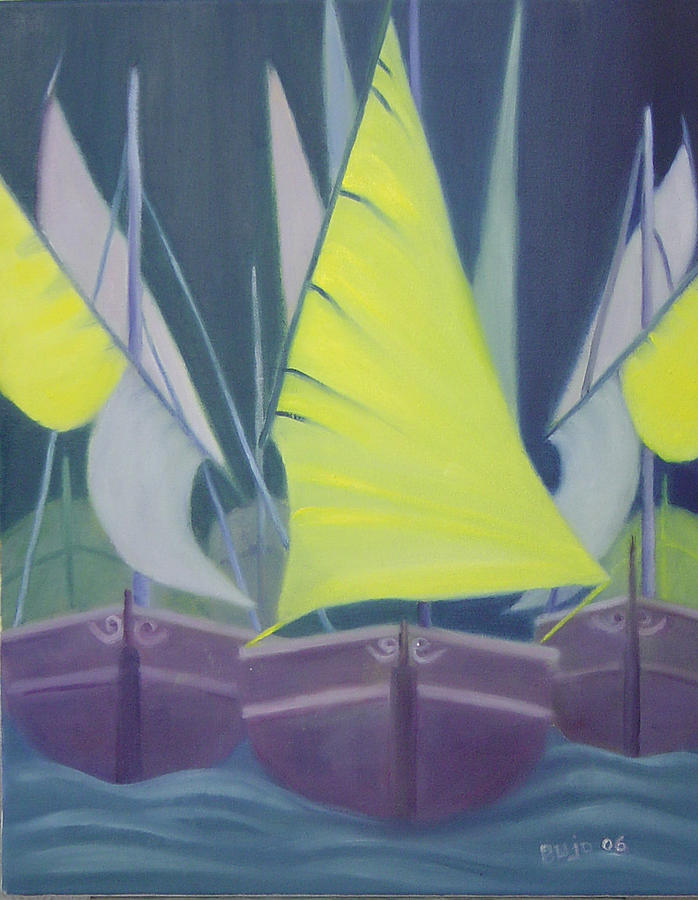 Armada Painting by Lyne Bujold