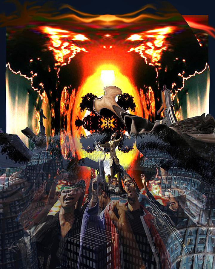 Dark Digital Art - Armageddon by Mason BenYair
