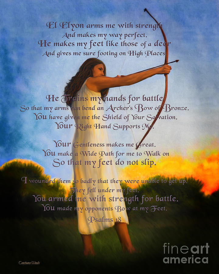 Armed For Battle Psalm 18 by Constance Woods