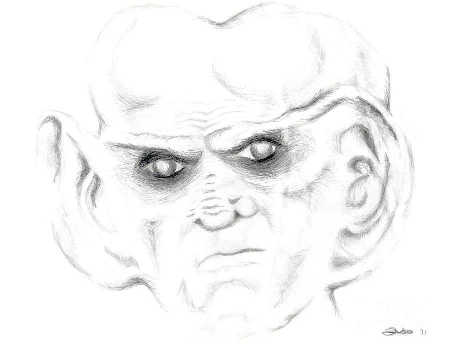Star Trek Drawing - Armin by Kim Sy Ok