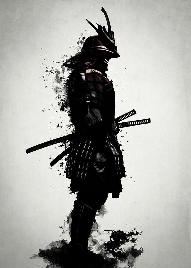 Samurai Mixed Media - Armored Samurai by Nicklas Gustafsson