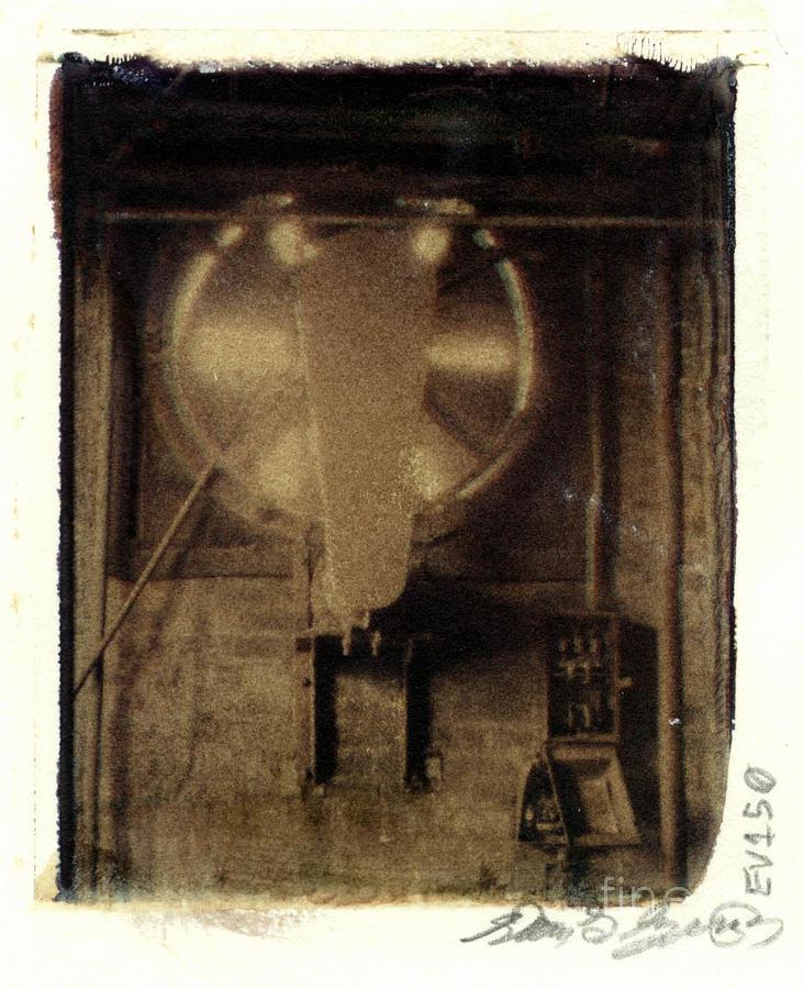 Polaroid Photograph - Armstrong Cork Factory Fan by Steven  Godfrey