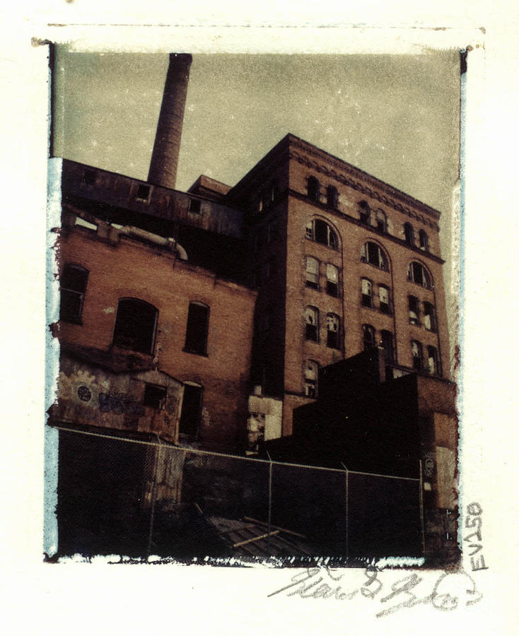 Polaroid Photograph - Armstrong Cork Factory View 1 by Steven  Godfrey