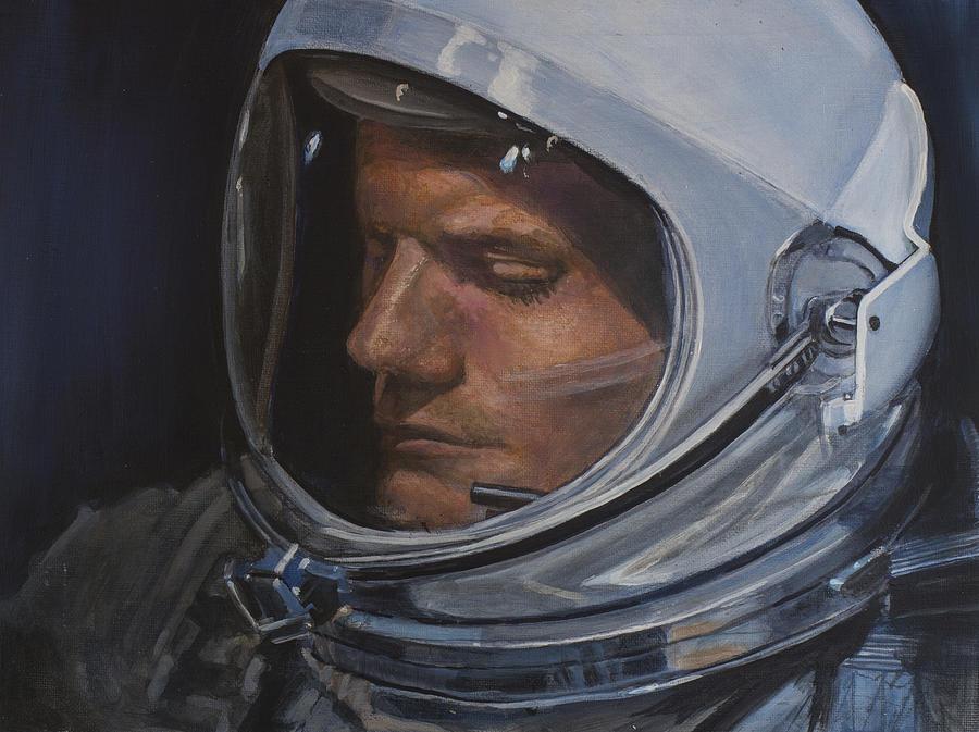 Armstrong- Gemini Viii Painting by Simon Kregar