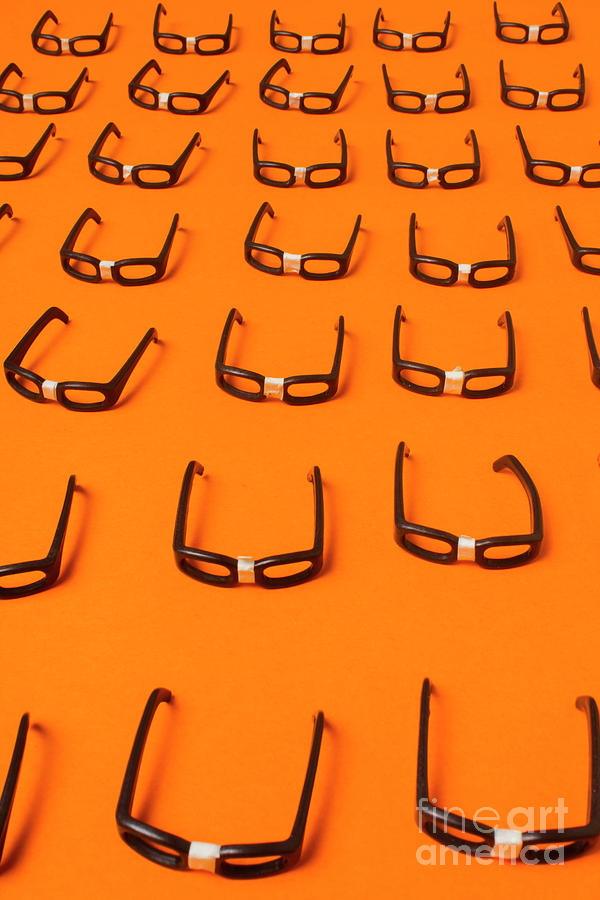 Nerd Photograph - Army Of Nerd Glasses by Jorgo Photography - Wall Art Gallery