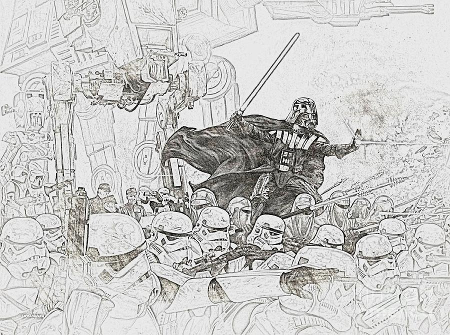 Army Of Stormtroopers Drawing by Hywel Morgan