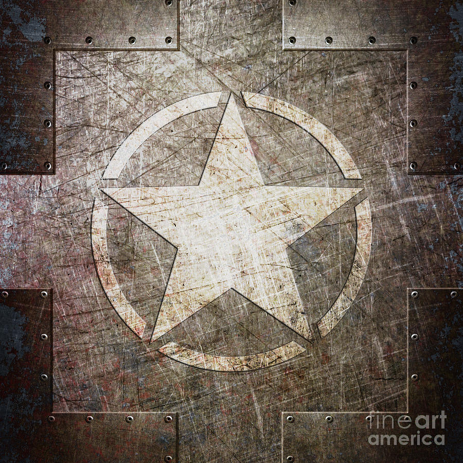 Army Star on Steel by Fred Ber