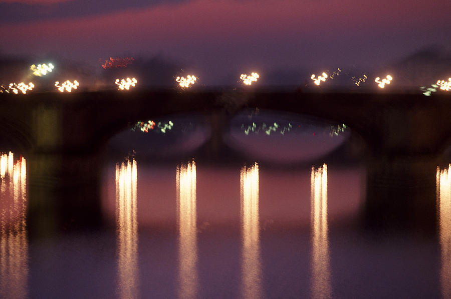 Bridge Photograph - Arno River Reflections by Brad Rickerby
