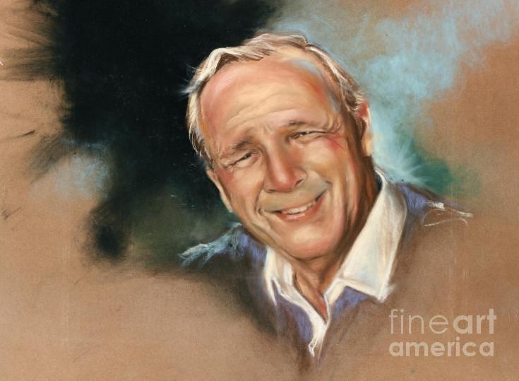 Pga Drawing - Arnold Palmer by Mark Sanislo