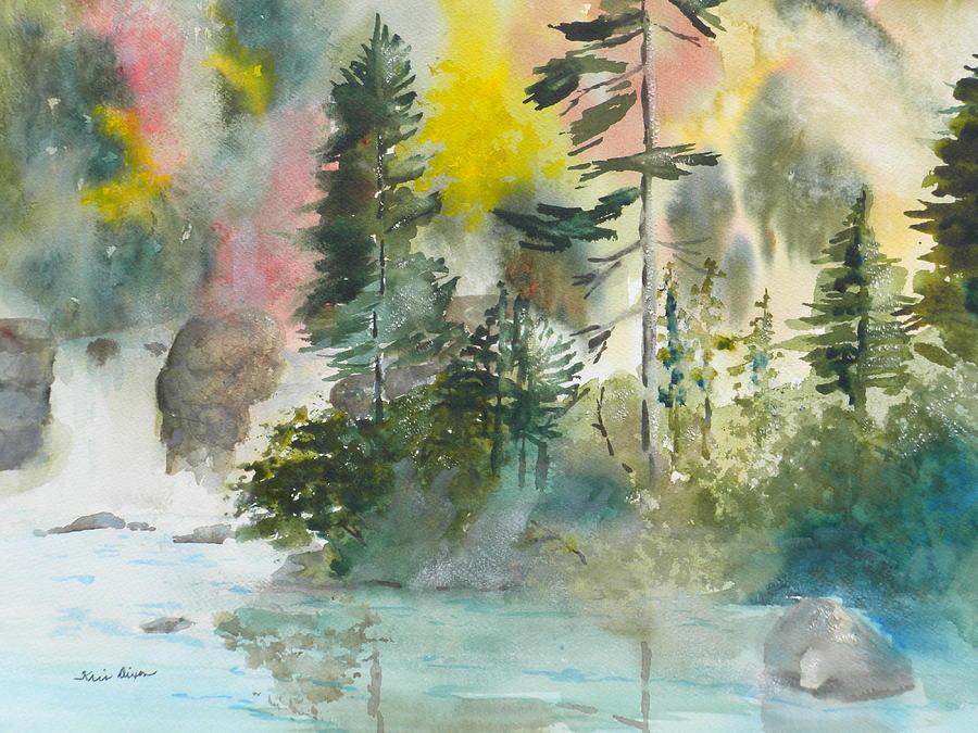 Mountain Stream Painting - Around The Bend by Kris Dixon