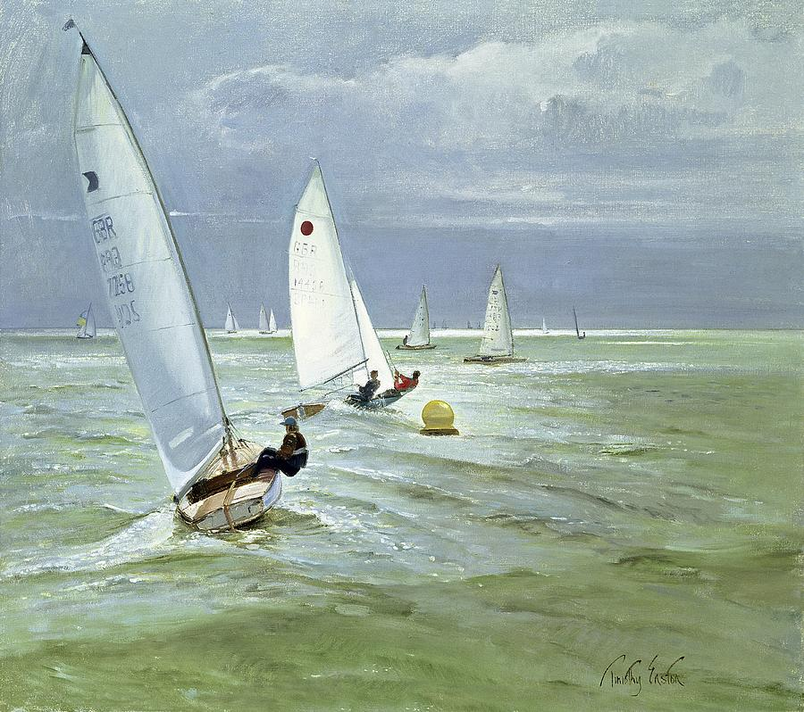 Buoy Painting - Around The Buoy by Timothy Easton