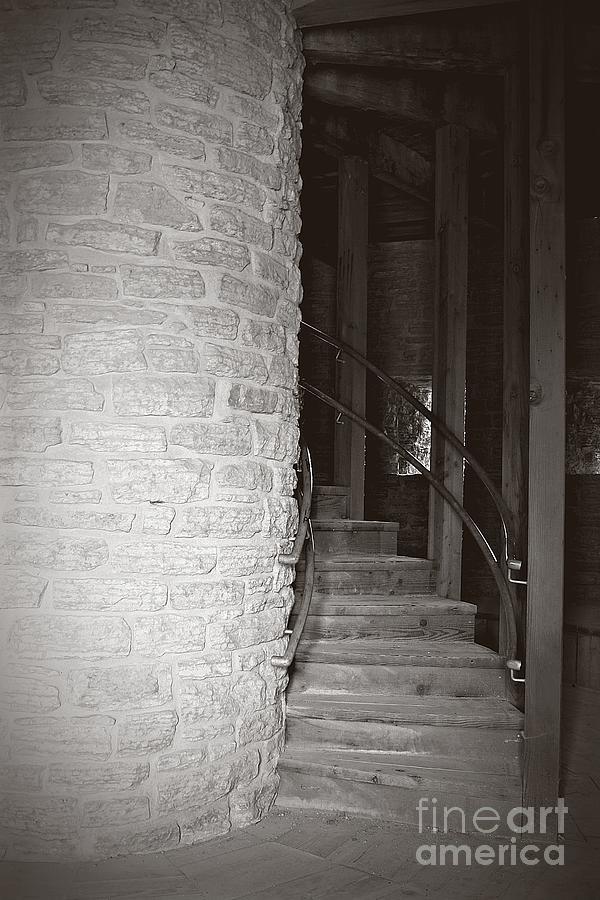Staircase Photograph - Around The Corner by Giliane Mansfeldt