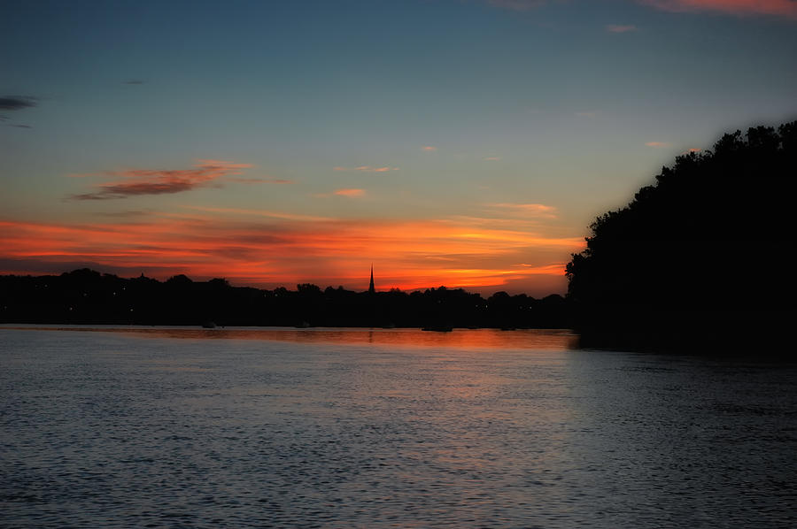 Sunsets Photograph - Around The River Bend by Ross Powell