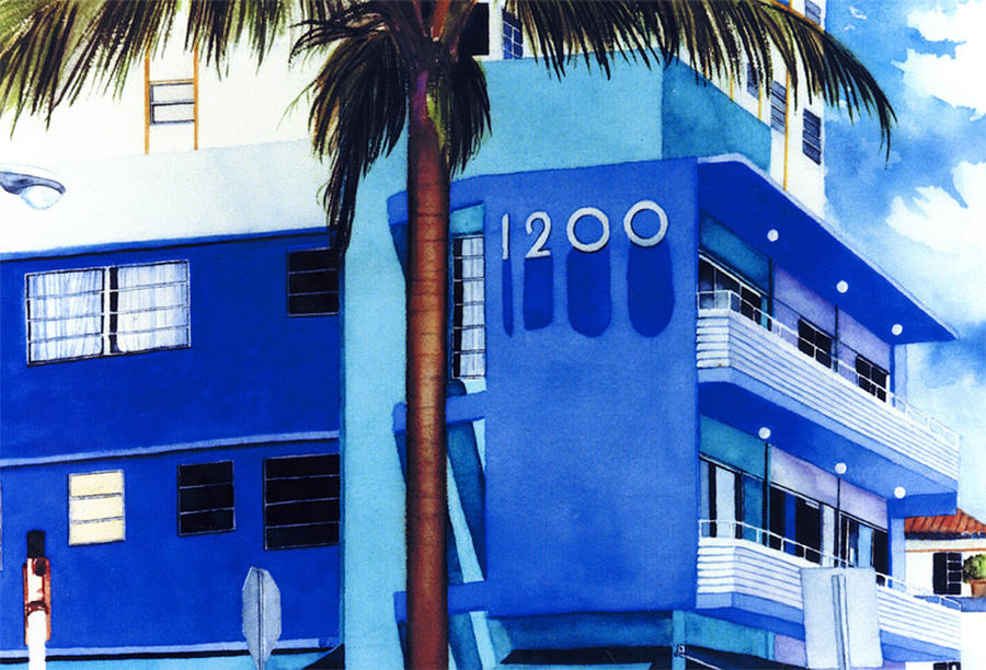 Giclee Painting - Around Twelve Noon In South Beach by Maureen Piccirillo