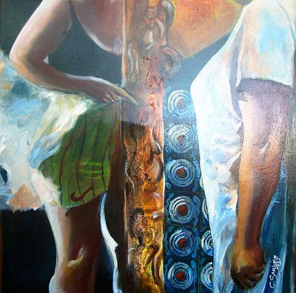 Figurative Painting - Arpias En La Habana by Carlos Sanjurjo