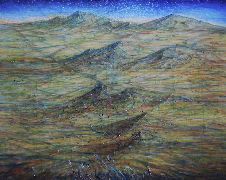 Landscape Painting - Arrakis by Arkis Krayl