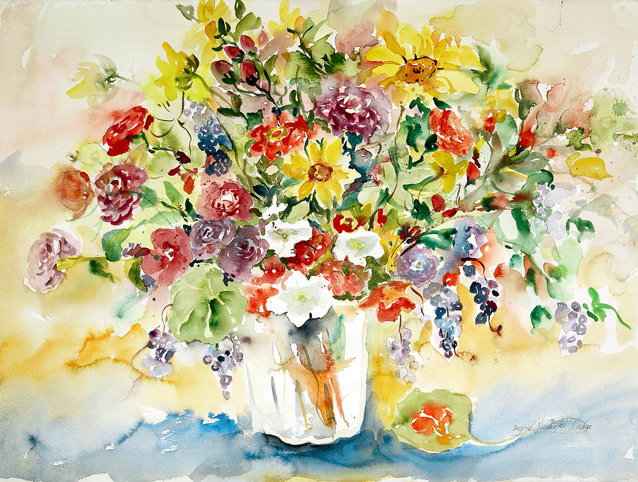 Watercolor Painting - Arrangement IIi by Alexandra Maria Ethlyn Cheshire