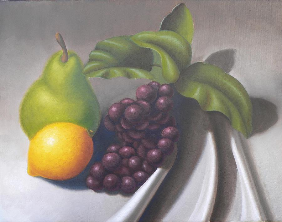 Still Life Painting - Arrangement On Gray by Bart  Dluhy