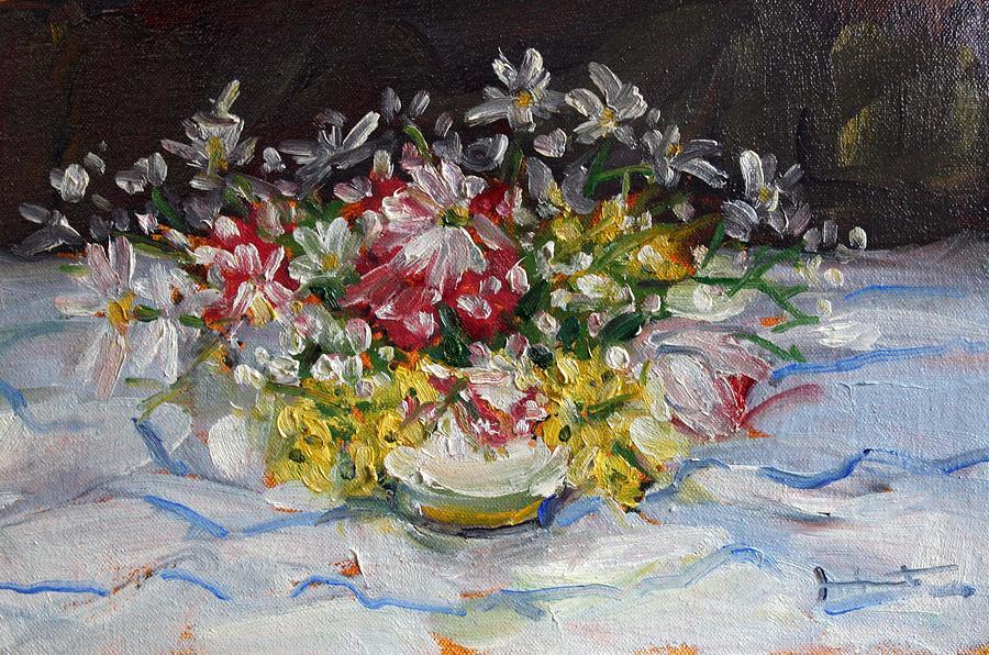 Owen Hunt Painting - Arrangement by Owen Hunt