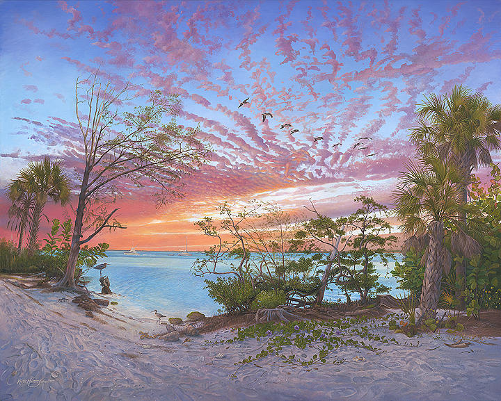 Florida Painting - Arrayed In Glorious Splendor by Keith Martin Johns