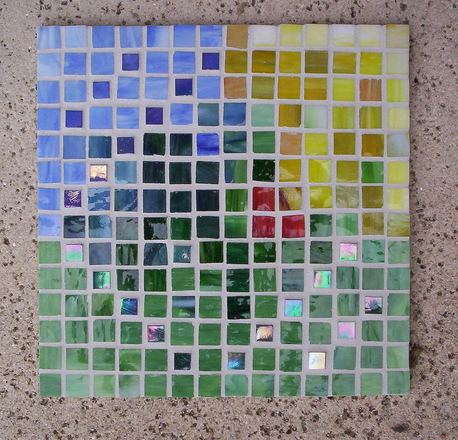 Mosaics Glass Art - Arrival by Suzanne Udell Levinger