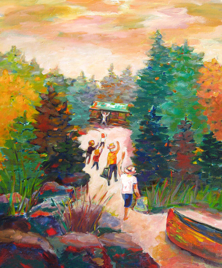 Arrivals Painting by Naomi Gerrard