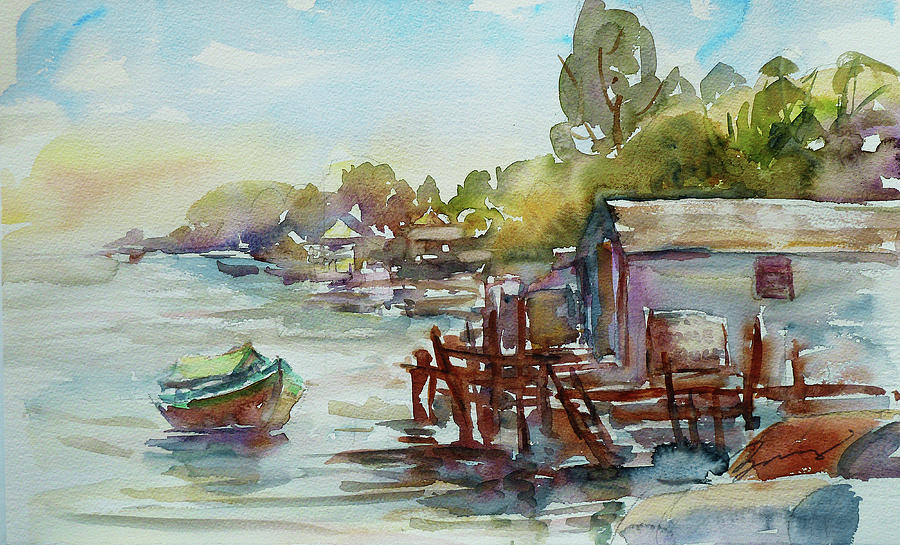 Watercolour Painting - Arriving by Xueling Zou