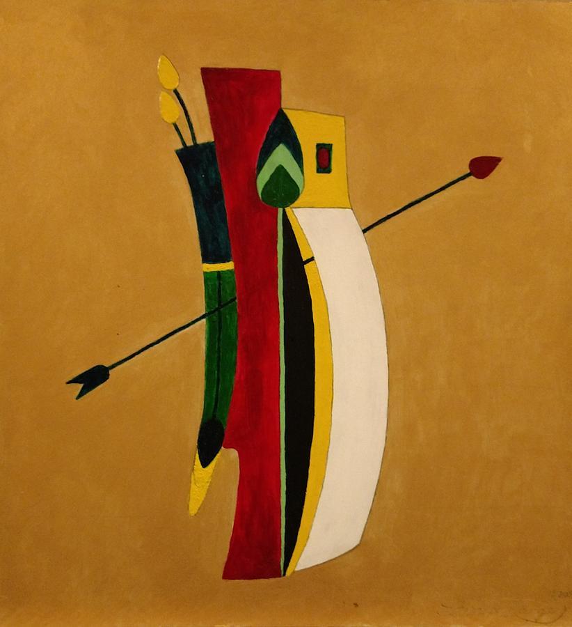 Arrow Bag Painting - Arrows Advantage by Edward Longo