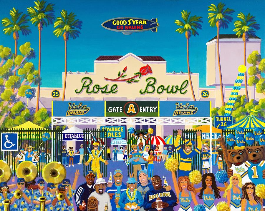 Rose Bowl Painting - Arroyo Psychos by Frank Strasser
