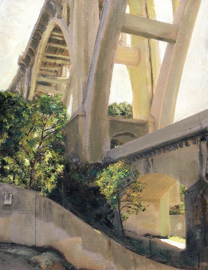Pasadena Painting - Arroyo Seco Bridge by Randy Sprout