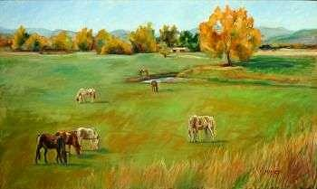 Oil Painting - Arroyo Vista by Marie Massey