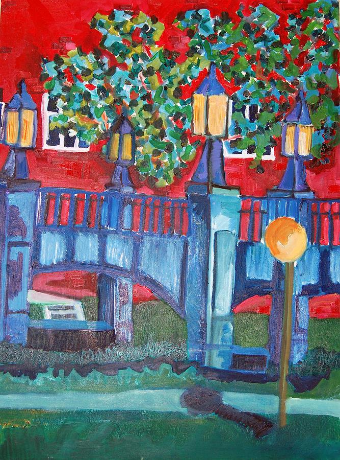 Bridge Painting - Art Bridge - University Of Iowa by Jame Hayes