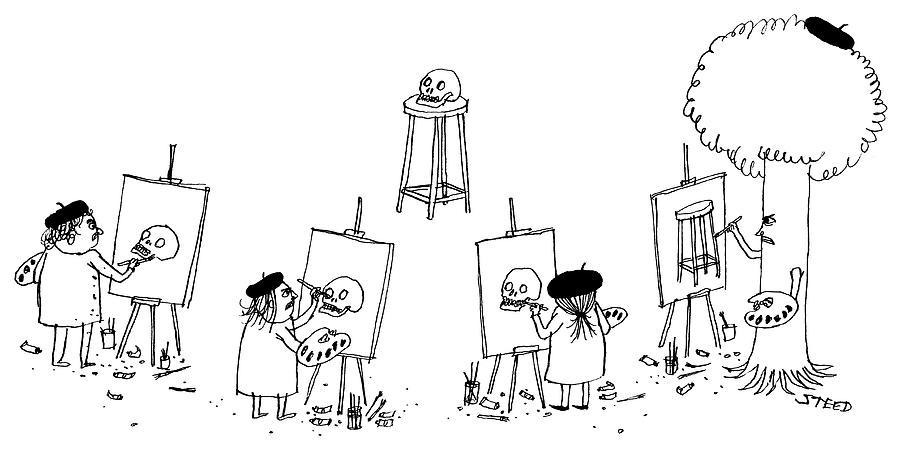 Art Class Drawing by Edward Steed