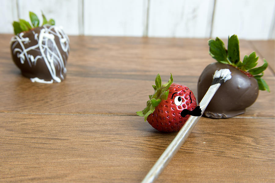 Chocolate Photograph - Art Class by Karen Foley