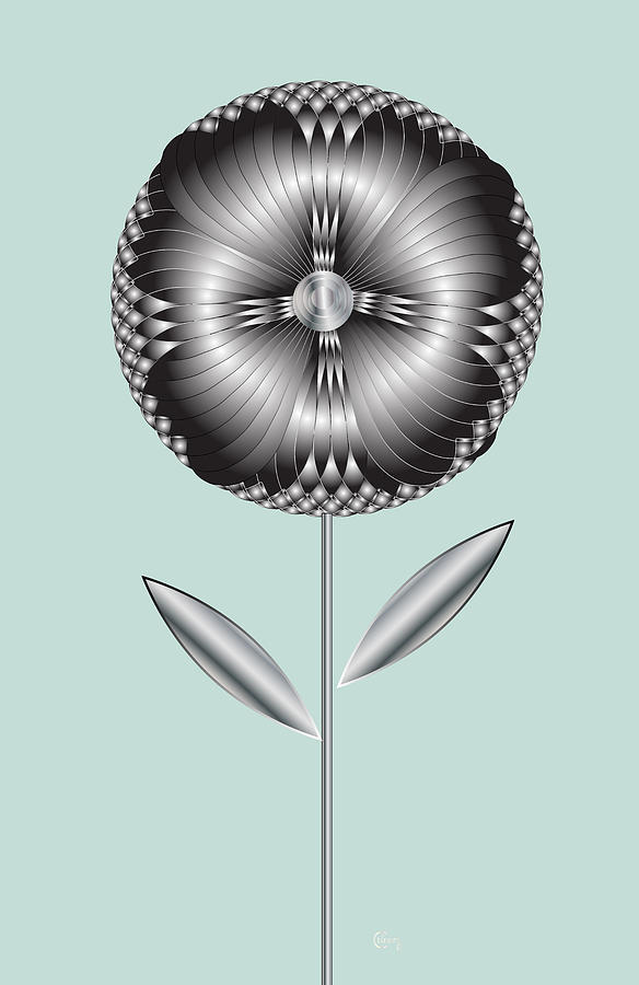 Art Deco Blooming  6 by Cecely Bloom