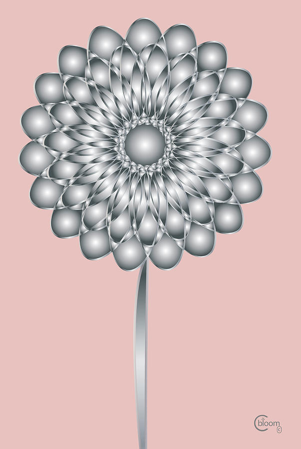 Art Deco Flower Blooming  7 by Cecely Bloom