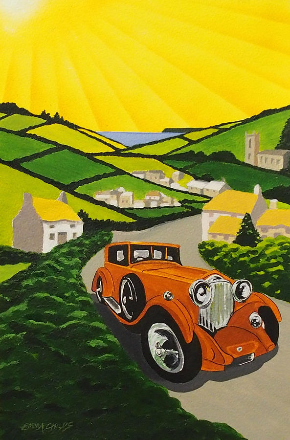 Art Deco In The Country Painting